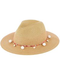 ea8b9f29fee Hat Attack Light Beige Raffia Braid Fedora Hat in Natural - Lyst