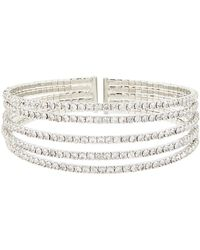Accessorize - Diamante Row Cuff Bracelet - Lyst