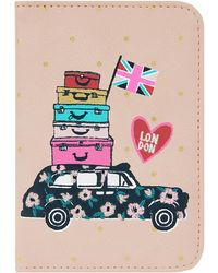 Accessorize - Applique Taxi Passport Holder - Lyst