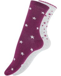 Accessorize - I Need Space 2 Pack Socks - Lyst