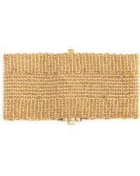 Carolina Bucci 18k Gold and Silk Woven Bracelet - Lyst
