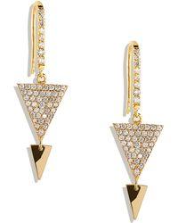 Lana Jewelry Fatale Pavediamond Spike Earrings - Lyst