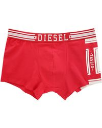 Diesel Red Shawn College Printed Boxer Shorts red - Lyst