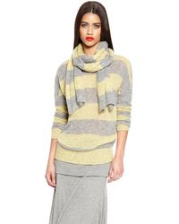 DKNY Pure Striped Scarf - Lyst