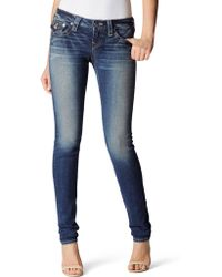True Religion Womens Originals Julie Low Rise Skinny Jean - Lyst