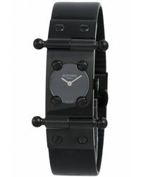 Rochas - Womens Black Dial Black Leather Watch - Lyst