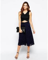 TFNC Lace Culottes - Lyst