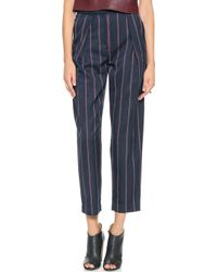 By Malene Birger Sega Striped Trousers  - Lyst