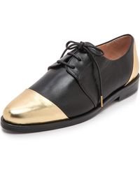 Thakoon Addition Metallic Oxfords - Black/Gold gold - Lyst