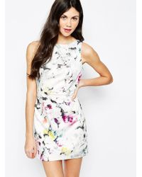 Aryn K. Abstract Print Shift Dress - Lyst