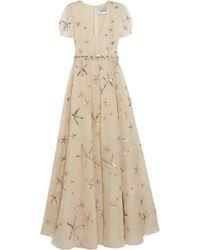 Valentino Sequined Silk-Organza Gown - Lyst