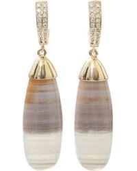 Pamela Huizenga - Saturn Chalcedony Earrings - Lyst