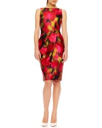 Michael Kors Printed Shantung Dress - Lyst