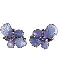 Federica Rettore - Tanzanite Cluster Earrings - Lyst