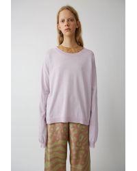 Acne Studios - Sporty Knit Jumper pale Lavender - Lyst