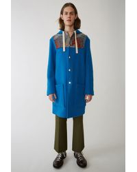 Acne Studios - Fn-mn-outw000050 Bright Blue Duffle Coat - Lyst
