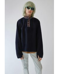 Acne Studios - Pilled Top dark Blue - Lyst