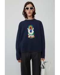 Acne Studios - Relaxed Fit Pullover navy Blue - Lyst