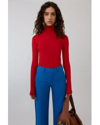 Acne Studios - Fitted Bodysuit sharp Red - Lyst