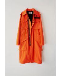Acne Studios - Fn-mn-outw000077 Neon Orange Long Parka - Lyst
