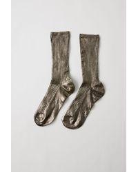 Acne Studios - Ribbed Socks anthracite Grey - Lyst