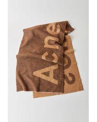 Acne Studios - Logo Scarf brown - Lyst