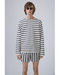 Acne Studios - Nimes ecru/dark Navy Stripes - Lyst