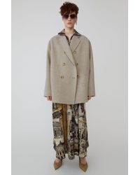 Acne Studios - Double Breasted Jacket oatmeal Melange 1 - Lyst
