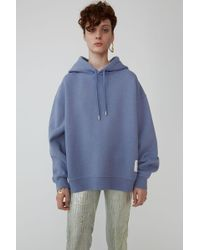Acne Studios - Hooded Sweatshirt blue Melange - Lyst