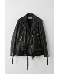 Acne Studios - Myrtle Leather Biker Jacket - Lyst