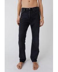 Acne Studios - Regular Fit Jeans used Black - Lyst