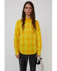 Acne Studios - Classic Fit Shirt yellow/orange - Lyst