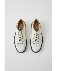 Acne Studios - Fn-mn-shoe000005 White Laced Derby Shoe - Lyst
