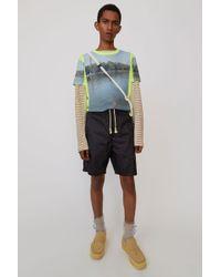 Acne Studios - Nylon Shorts black - Lyst
