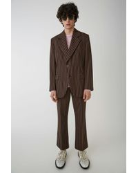 Acne Studios - Tailored Blazer brown/pink - Lyst