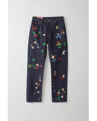 Acne Studios - Land Gum Color Loose Fit Jeans - Lyst