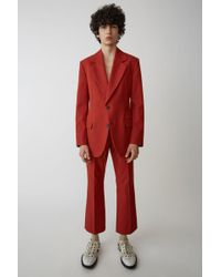Acne Studios - Fn-mn-suit000006 Red Tailored Blazer - Lyst
