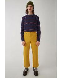 Acne Studios - Workwear Trousers mustard Yellow - Lyst