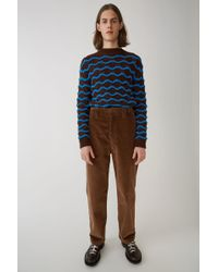 Acne Studios - Corduroy Trousers caramel Brown - Lyst