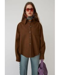Acne Studios - Flannel Shirt caramel Brown - Lyst
