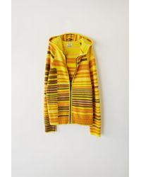 Acne Studios - Fn-mn-knit000063 Peach/multi Striped Zip Sweater - Lyst