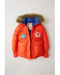 Acne Studios - Expedition W A/f Deep Orange Reversible Down Jacket - Lyst