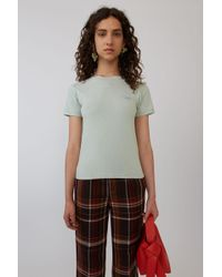Acne Studios - Baby Fit T-shirt dusty Green - Lyst