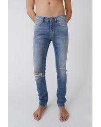 Acne Studios - Slim Fit Jeans indigo Blue - Lyst