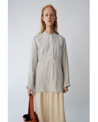 Acne Studios - Tunic Shirt natural / Blue Stripe - Lyst