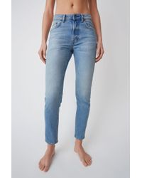 Acne Studios - High Waisted Jeans light Blue - Lyst