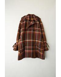 Acne Studios - Fn-wn-outw000031 Brown/burgundy Mackintosh Coat - Lyst
