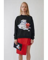 Acne Studios - Unisex Printed Sweatshirt black Ice Print - Lyst