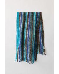 Acne Studios - Wool Blend Scarf blue/purple - Lyst