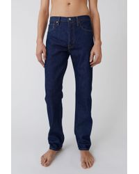 Acne Studios - Regular Fit Jeans indigo Blue - Lyst